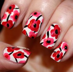 Pillow Poppies: Mani Inspired
