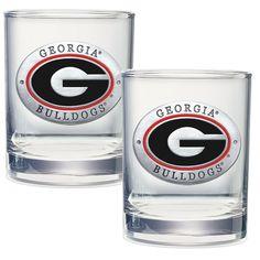 Georgia Bulldogs Cocktail Glasses
