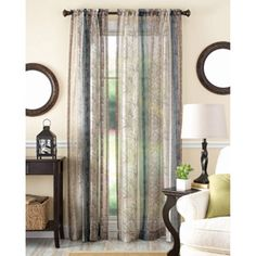 Better Homes And Gardens Fern Stripe Curtain Panel