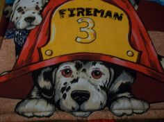 Fireman Taggy blanket by PeaPodLilFrogs on Etsy, $10.00