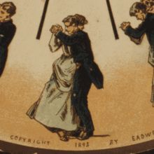 Early moving picture (1893) of a waltzing couple.