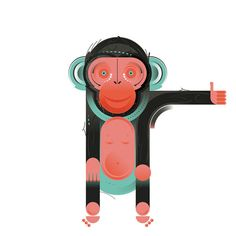 Chimp graphic by Leandro Castelao for MailChimp artist series.