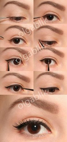 How To: Eyeliner Tutorial — Cream/Gel Liquid http://www.makeupbee.com/look_How-To-Eyeliner-Tutorial--CreamGel-Liquid_42294