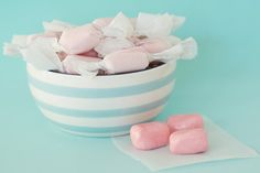 Homemade Bubble Gum Skip the stores and make your own homemade bubble gum. We made traditional pink bubble gum with strawberry flavor, but you can get creative with many different flavors and colors. #Homemadeholidays