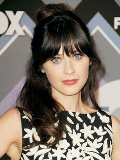 Zooey Deschanel  Who doesn't love this quirky New Girl's signature fringe? She's sending our hipster-loving hearts aflutter!