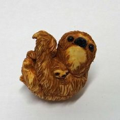Netsuke Figure Three-toed Sloth in Collectibles, Decorative Collectibles, Figurines   eBay