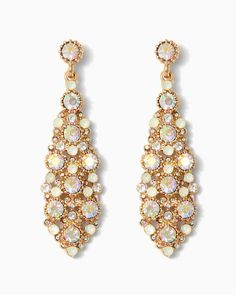 charming charlie | Rainbow Stones Cluster Earrings | UPC: 410007148573 #charmingcharlie