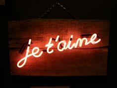 'Je t'aime' Neon by artist/designer Rory Dobner