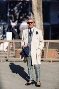 "sprezzaturaeleganza: ""Pitti Uomo Leluzzi https:& "" Pitta, Street Style, Silk Ties, Parisian, Gentleman, Menswear, Mens Fashion, Photo And Video, Guys"