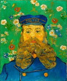 Vincent van Gogh - Portrait of the Postman Joseph-Etienne Roulin. Oil on canvas. Arles: April, 1889. Otterlo: Kroller-Muller Museum.