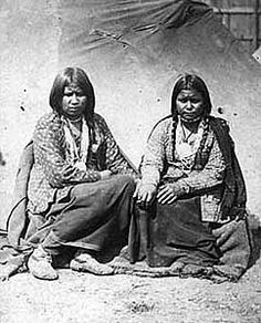 Dakota women in the concentration camp at Ft. Snelling, St. Paul, MN, 1862-63. (Joel Whitney)