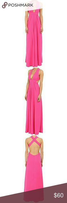 Jill Stuart Hot Pink Gown Jill Stuart Hot Pink Gown size 8 worn once. Excellent condition. Jill Stuart Dresses Backless
