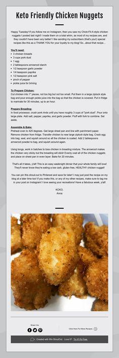 keto friendly chicken nuggets