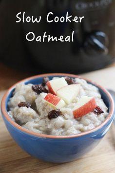 Crockpot Oatmeal with Old Fashioned Oats