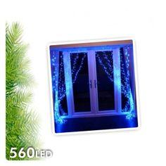 Cortina Cascada Niágara de Luz Led de 2 mts de altura 560L de Navidad Cortinas de luz para decoración