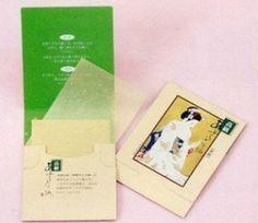 Japanese Premium Oil Blotting Paper 200 Sheets (B), Large...