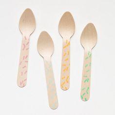 Sprinkles Wooden Ice Cream Spoons (20 pack)