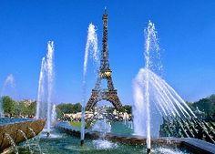 Paryż, Wieża, Eiffla, Fontanna