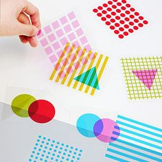 Shapes & Colors Overlay Play Cards. Perfect for teaching shapes, colors, 2-D into 3-D construction!