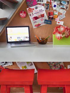 Dorm Desks: DIY Dorm Room Decor & Decorating Ideas from HGTV >> http://www.hgtv.com/design/make-and-celebrate/handmade/33-diy-dorm-room-ideas-pictures?soc=pinterest