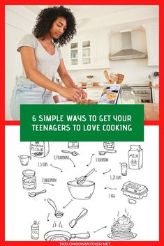 Kids interest in cooking can wane as they get older. We've put together tips and simple recipes for teens to help them fall back in love with cooking. Raising Teenagers, Parenting Teenagers, Parenting Styles, Craft Activities For Kids, Crafts For Kids, Recipe For Teens, Baking With Kids, Things To Do In London, Simple Recipes