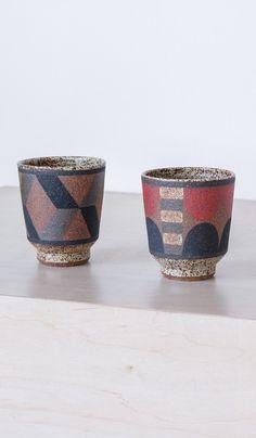 Kat and Roger Straight Side Ceramic Tumbler