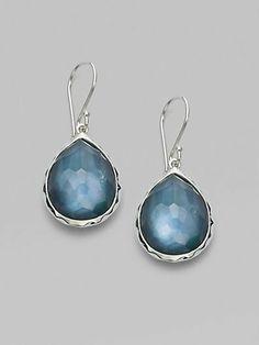 Ippolita Mother of Pearl, Quartz & Sterling Silver Mini Teardrop Earrings/Indigo on shopstyle.com
