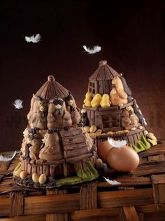 Easter Mold Shell Bell Hen house#chocolate #easter buy now the mould on www.decosil.eu