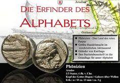 Bildergebnis für phönizier Alphabet, Coins, Personalized Items, Inventors, Rooms, Alpha Bet