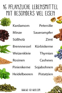 Ferrous foods - the best foods with many .-Eisenhaltige Lebensmittel – die besten Nahrungsmittel mit viel Eisen There are ferrous foods here that fill our energy stores. These iron-rich foods put an end to iron deficiency! Best Fat Burning Foods, Best Weight Loss Foods, Weight Loss Meal Plan, Diet And Nutrition, Healthy Diet Tips, Holistic Nutrition, Proper Nutrition, Nutrition Month, Healthy Foods