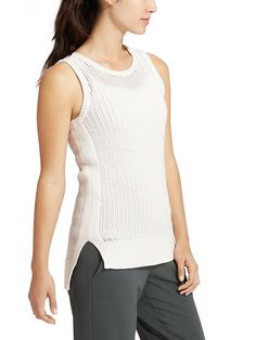 Amity Vest - The easy, loose cotton-blend vest thats perfect for relaxed days on the beach when the sun starts to dip.