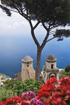 View From Villa Rufolo Gardens, Ravello, Amalfi Coast, Province of Salerno , Campania region Italy