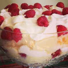 Tipsy Laird - known to Sassenachs as sherry trifle (layers of custard, cake, whipped cream and fruit), this whisky-soaked Scottish dish is the traditional dessert at a Burns Supper.