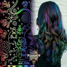 beautiful oilslick  hair
