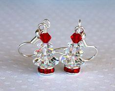 Christmas Tree Earrings Sterling Silver by BlueRavenDesignsAU