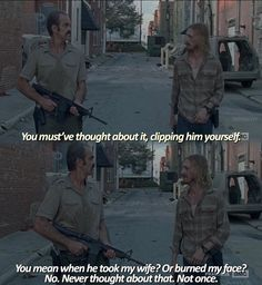 Simon (Steven Ogg) and Dwight (Austin Amelio) talking 'bout Negan Walking Dead Facts, Walking Dead Season 8, Walking Dead Quotes, Walking Dead Tv Series, Fear The Walking Dead, Daryl Twd, Daryl Dixon, Best Tv Series Ever, Best Shows Ever