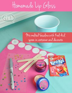 How to Make Homemade Lip Gloss for Kids | Club Chica Circle - where crafty is contagious