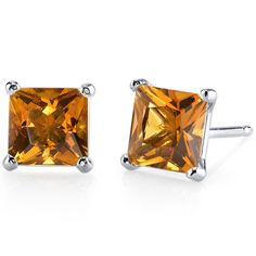 Peora.com - 14 kt White Gold Princess Cut 2.00 ct Citrine Earrings E18500, $104.99 (http://www.peora.com/14-kt-white-gold-princess-cut-2-00-ct-citrine-earrings-e18500/)