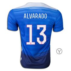 2015 Ventura Alvarado Youth Away Jersey #13 USA Soccer