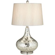 Sophistication is found in this mercury table lamp. | $130