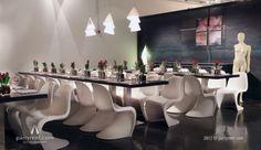 Panton chair in wit | Stoelen huren bij Party Rent