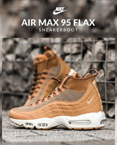 Nike Air Max 95 Sneakerboot: Flax http://feedproxy.google.com/fashionshoes11
