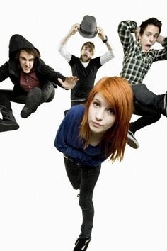 Paramore..(: I want my hair like this but  2 or 3 shades darker.. She can always pull off all kinds of red.. :\