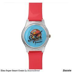 Shop Elmo Super Smart Comic Wrist Watch created by SesameStreet. Presents For Kids, Fun Gifts, Watch Faces, Elmo, Digital Watch, Fashion Accessories, Quartz, Watches, Comics