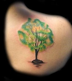 Lucky Bamboo Tattoo : Tattoos : Body Part Shoulder : Watercolor ...