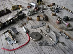 Small Metal Parts Typewriter Parts Electrical by HighDesertRust