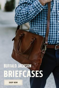 Men's vintage full-grain brown leather pilot briefcase bag. Large size fits up to 18-inch laptops. Handcrafted to handle a lifetime of business, luxury, adventure, and more. Rugged leather products to rival any you'll find from Crazy Horse, Michael Kors, Nordstrom - you name it. Briefcase For Men, Leather Briefcase, Men's Leather, Leather Satchel, Brown Leather, Casual Professional, Waxed Canvas Bag, Leather Products, Men's Vintage