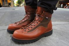 Boots: Danner Light cedar rainbow, to export to Japan only.