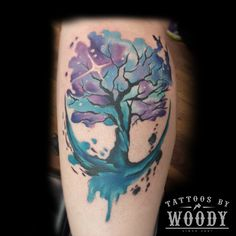 watercolor tree tattoo - Google Search
