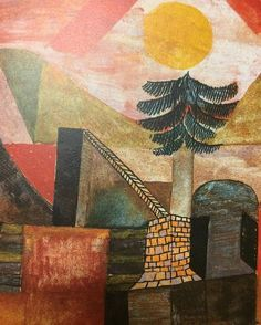 Paul Klee, Dream Landscape with Conifers, 1920 (image cropped) on ArtStack #paul-klee #art